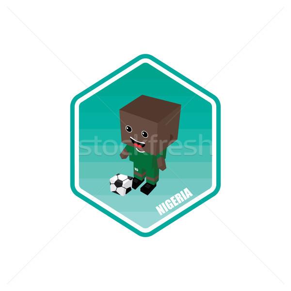 Futebol isométrica Nigéria vetor arte desenho animado Foto stock © vector1st