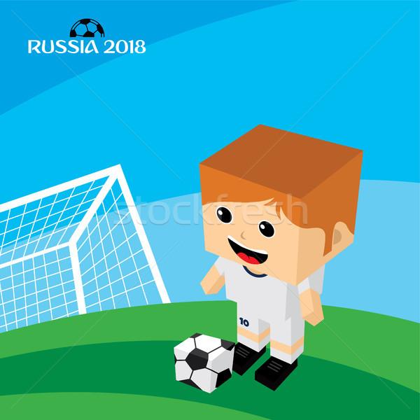 Csoport csapat Oroszország futball-bajnokság vektor művészet Stock fotó © vector1st