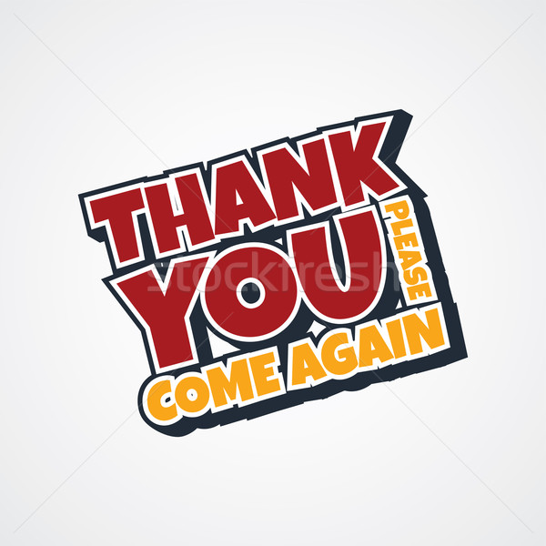 thank you sign Stock photo © vector1st