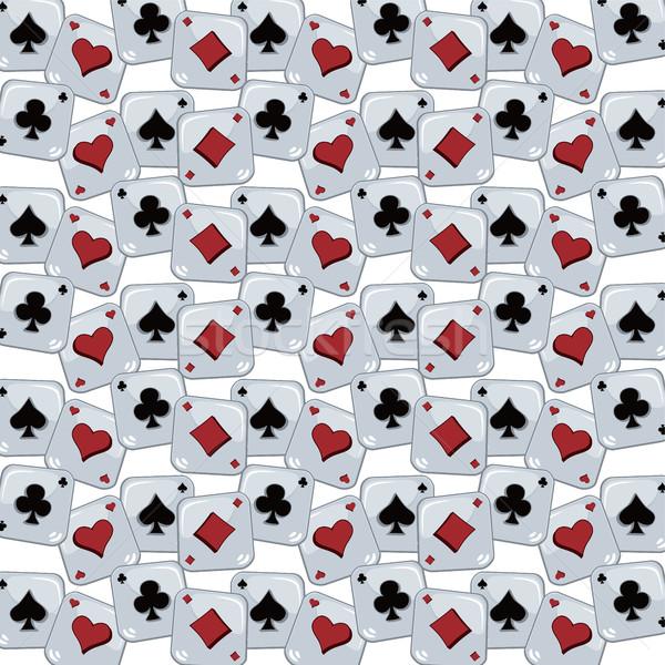 Poker Karte Muster Vektor Kunst Illustration Stock foto © vector1st