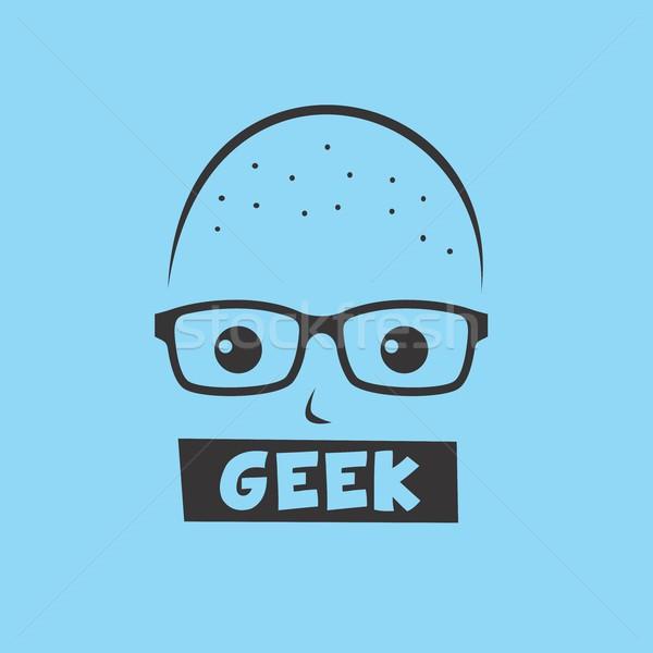 Geek Аватара вектора графических искусства Сток-фото © vector1st