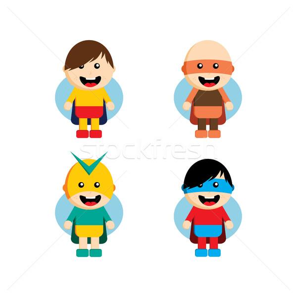 стиль superhero характер Аватара лента Label Сток-фото © vector1st