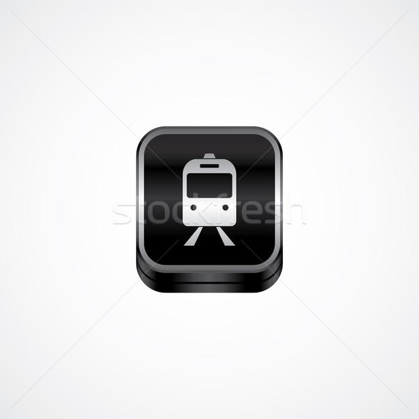 металл пластина икона кнопки вектора искусства Сток-фото © vector1st