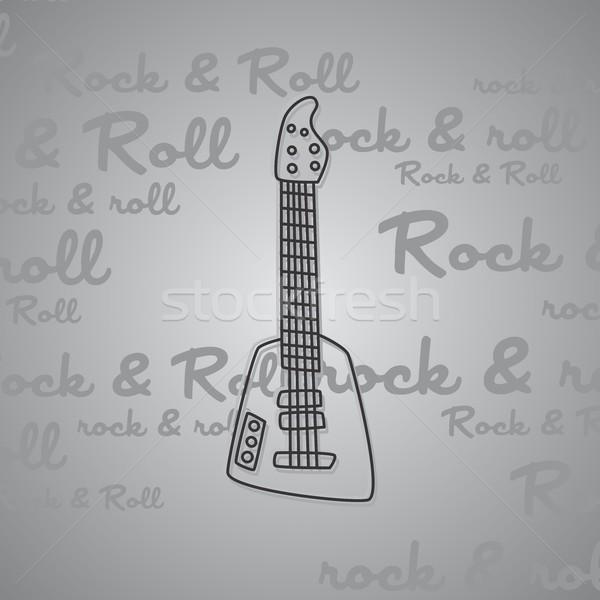 Kaya rulo gitar vektör sanat örnek Stok fotoğraf © vector1st