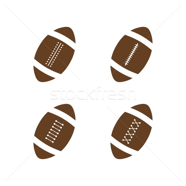 Amerikan futbol vektör grafik sanat örnek Stok fotoğraf © vector1st