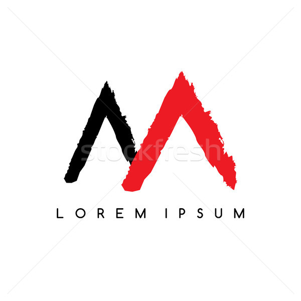 Lettera montagna colore logo modello Foto d'archivio © vector1st