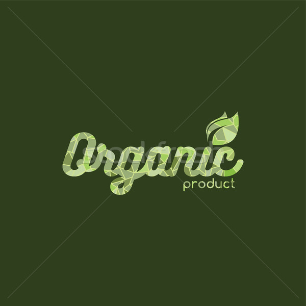 Milieuvriendelijk natuurlijke label organisch product sticker Stockfoto © vector1st