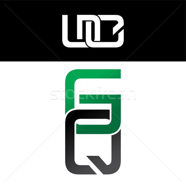 手紙 ロゴ 緑 黒 デザイン 金 ストックフォト © vector1st