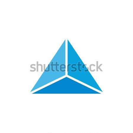 Stok fotoğraf: üçgen · logo · sanat · iş · imzalamak