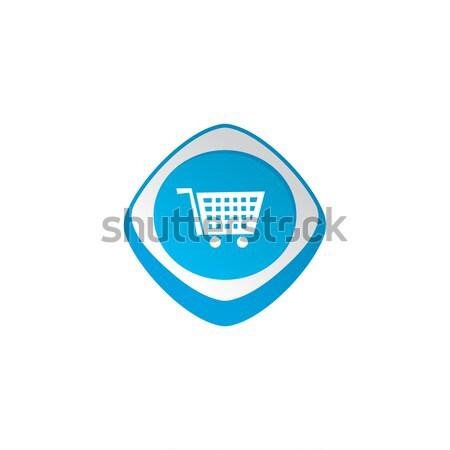 Laden glänzend Farbe App Symbol Taste Stock foto © vector1st