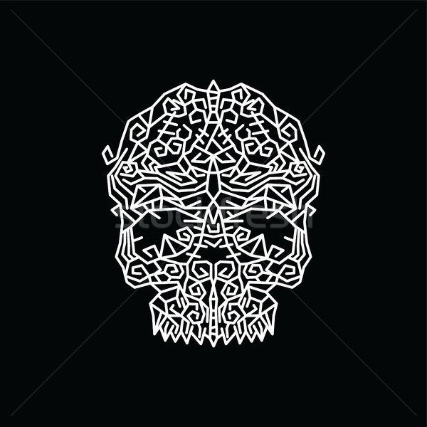 tribal tribe native art skull head Stock photo © vector1st