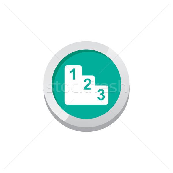 Játék nyereség ikon felirat szimbólum gomb Stock fotó © vector1st
