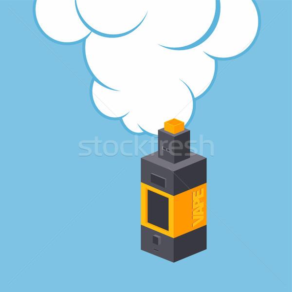 Isométrica elétrico cigarro pessoal vetor arte Foto stock © vector1st