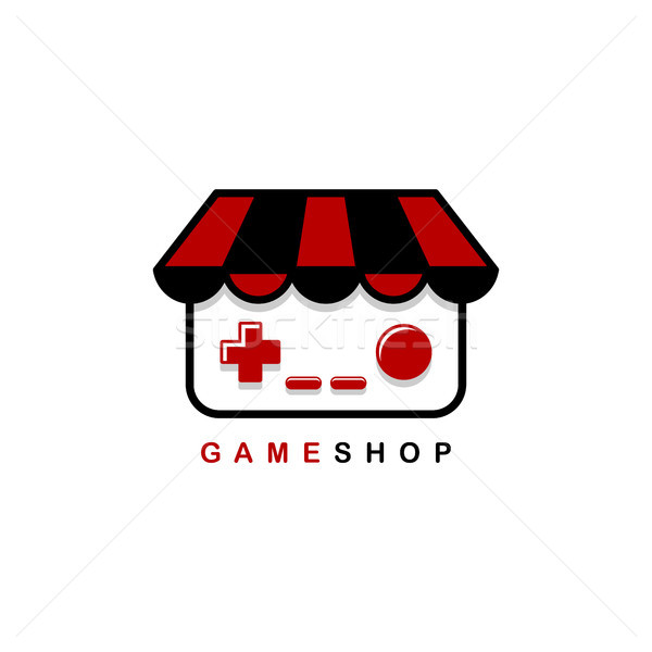 video game shop theme logo template Stock photo © vector1st