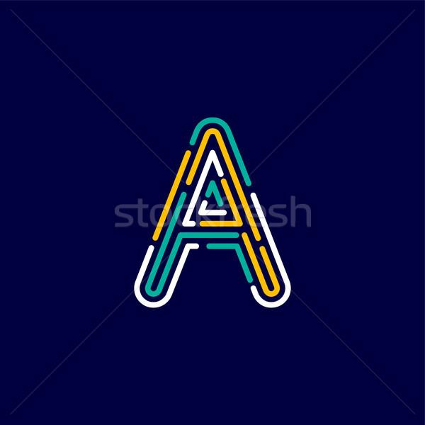 color alphabet letter logo identity template Stock photo © vector1st