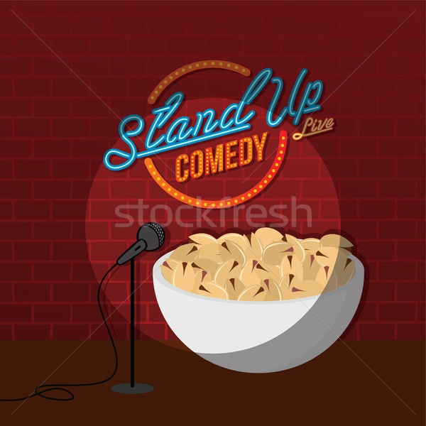 stand up comedy open mic pistachio nut Stock photo © vector1st