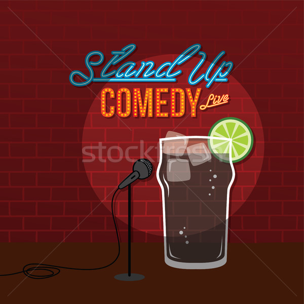 stand up comedy open mic coke cola drink Stock photo © vector1st
