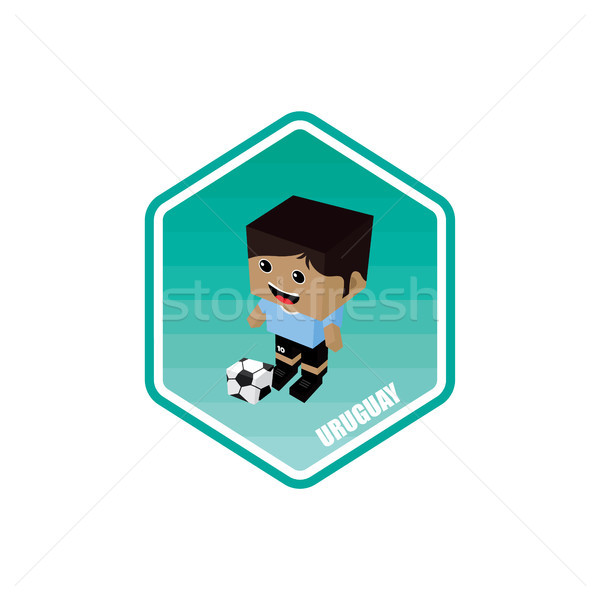 Fútbol Uruguay vector arte Cartoon Foto stock © vector1st