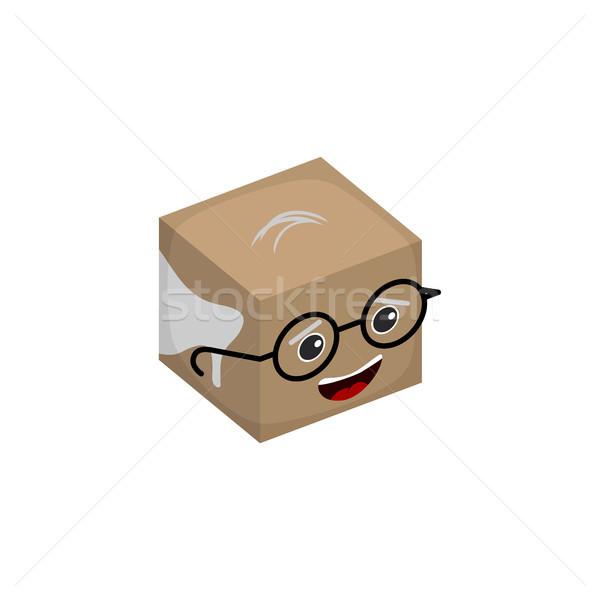 Boldog öreg nagypapa vektor logo művészet Stock fotó © vector1st