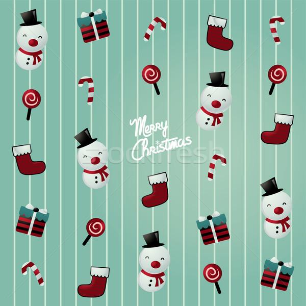 Vidám karácsony ünneplés vektor művészet illusztráció Stock fotó © vector1st