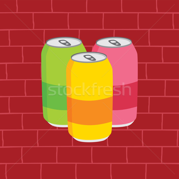 juicy soft drink cans Stock photo © vector1st