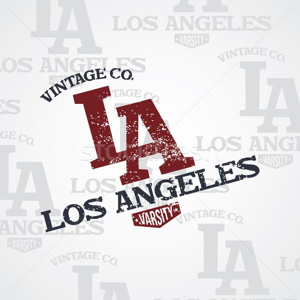 Los Angeles wektora sztuki ilustracja streszczenie podpisania Zdjęcia stock © vector1st