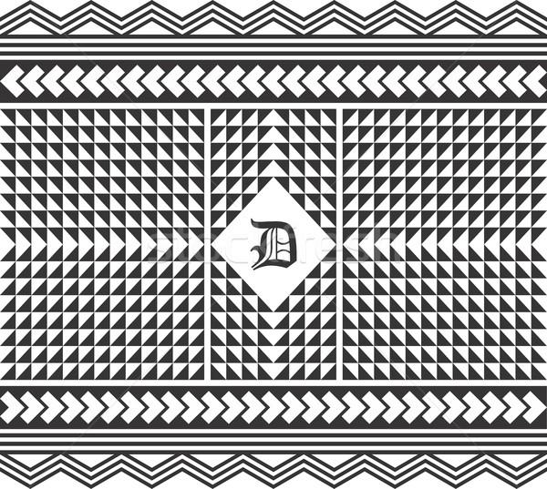 Nativo americano pattern vettore grafica arte Foto d'archivio © vector1st