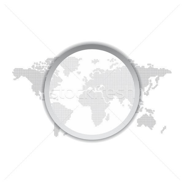 Mapa del mundo gráfico ilustración mundo mundo Foto stock © vector1st