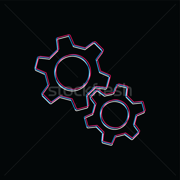 cog setting brand template logo logotype theme vector art Stock photo © vector1st