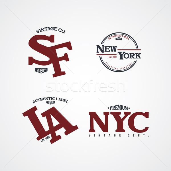 Stock photo: united states of america varsity badge