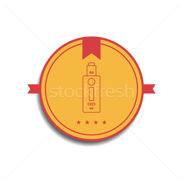 Retro color placa eléctrica cigarrillo vector Foto stock © vector1st