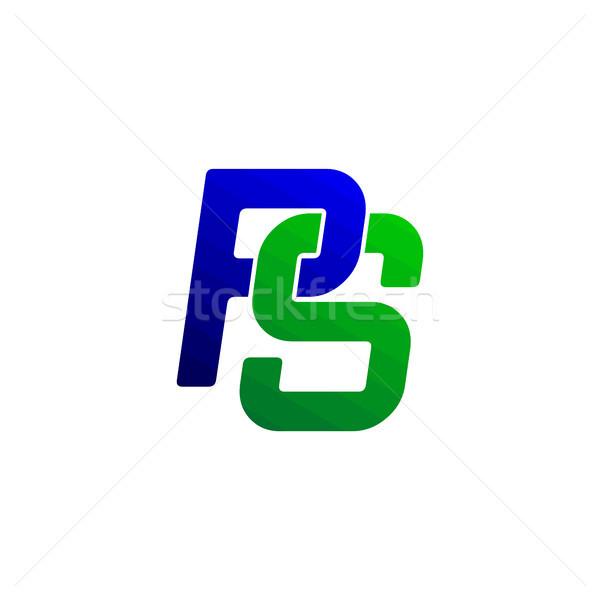 overlap initial letter alphabet sign symbol Stock photo © vector1st