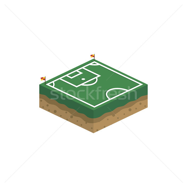isometric square box soccer field vector logo Stock photo © vector1st