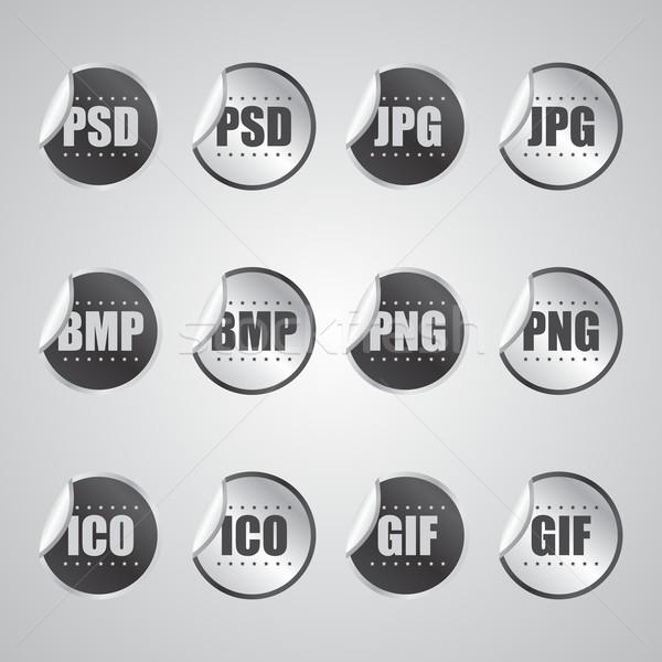 Címke matrica szerkeszthető vektor grafikus művészet Stock fotó © vector1st