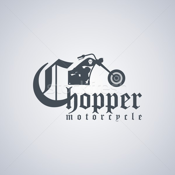 Motosiklet klasik vektör sanat örnek mutlu Stok fotoğraf © vector1st