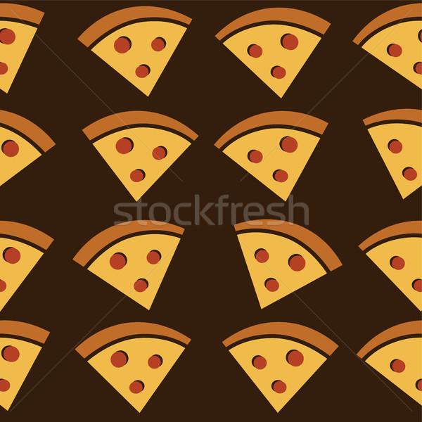 Pizza slice smakelijk kunst vector illustratie Stockfoto © vector1st
