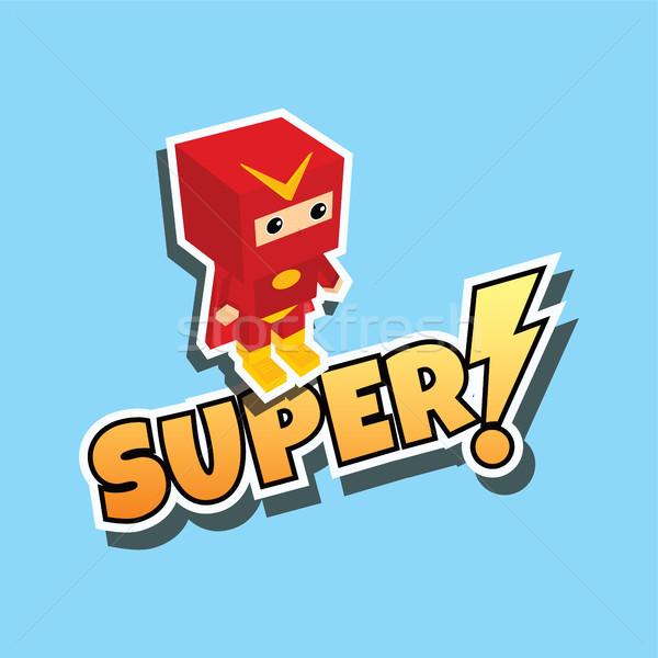 Superhero Cartoon вектора искусства иллюстрация Сток-фото © vector1st