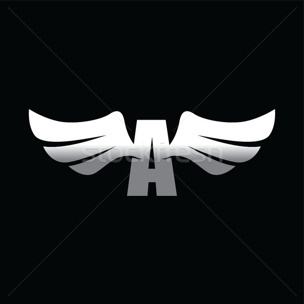 aviator wing - space aeroplane airplane vector art Stock photo © vector1st