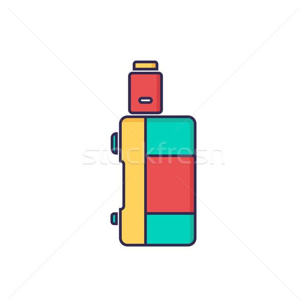 Elektromos cigaretta pára élet vektor tűz Stock fotó © vector1st