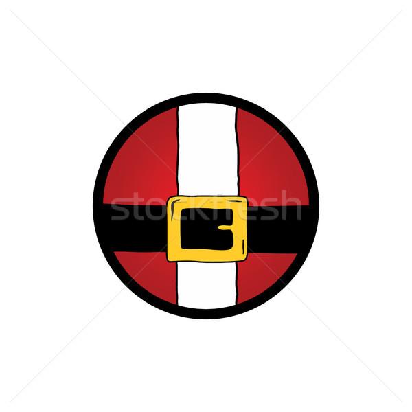 Neşeli Noel noel baba ikon logo vektör Stok fotoğraf © vector1st