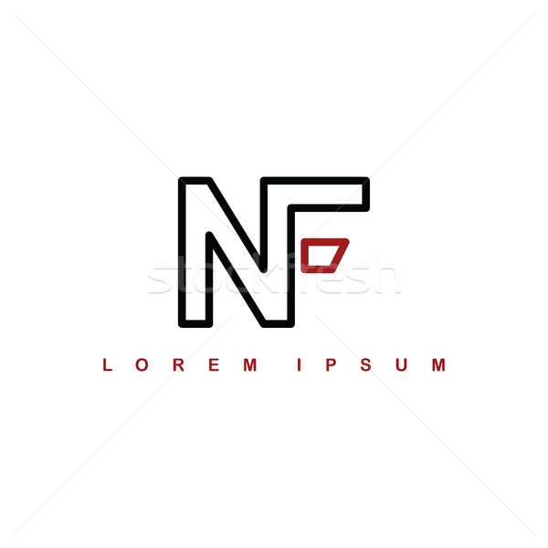 nf alphabet letter art theme logo logotype Stock photo © vector1st