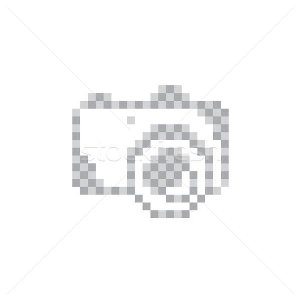 Пиксели камеры знак символ вектора искусства Сток-фото © vector1st