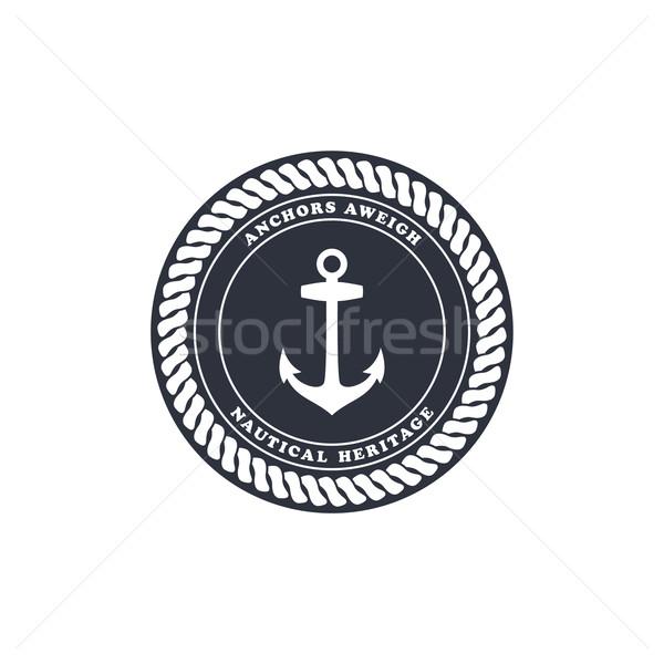 Denizci çapa okyanus deniz vektör sanat Stok fotoğraf © vector1st