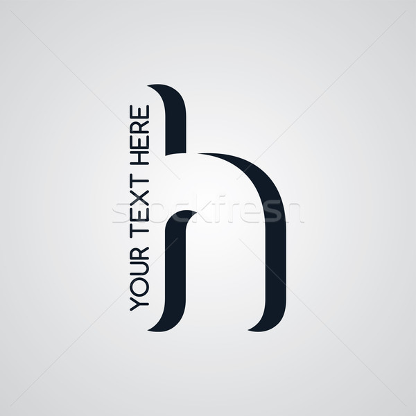 Levél logotípus vektor művészet illusztráció üzlet Stock fotó © vector1st