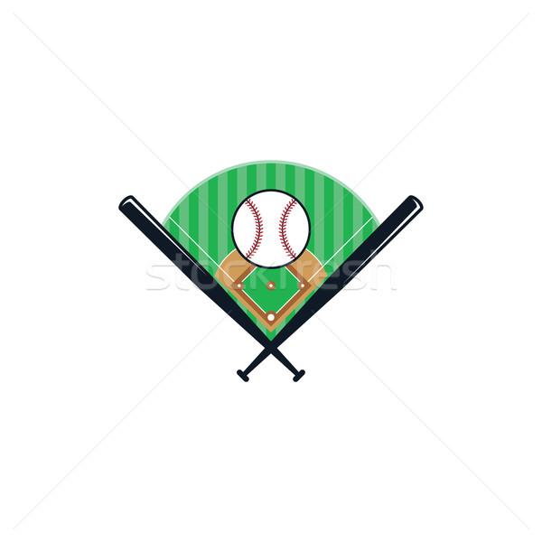Beysbol lig spor vektör sanat örnek Stok fotoğraf © vector1st