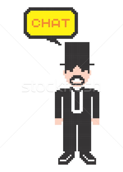 pixel man art Stock photo © vector1st