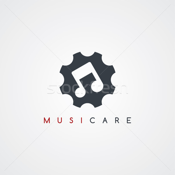 audio music care service icon sign logotype Stock photo © vector1st