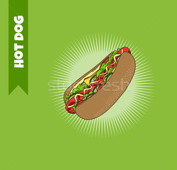 hot dog Stock photo © vector1st