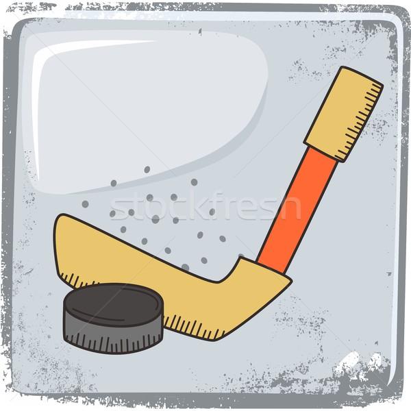 hockey sports theme Stock photo © vector1st