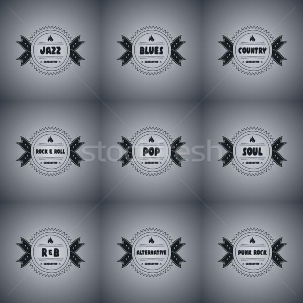 музыку икона песня вектора искусства иллюстрация Сток-фото © vector1st